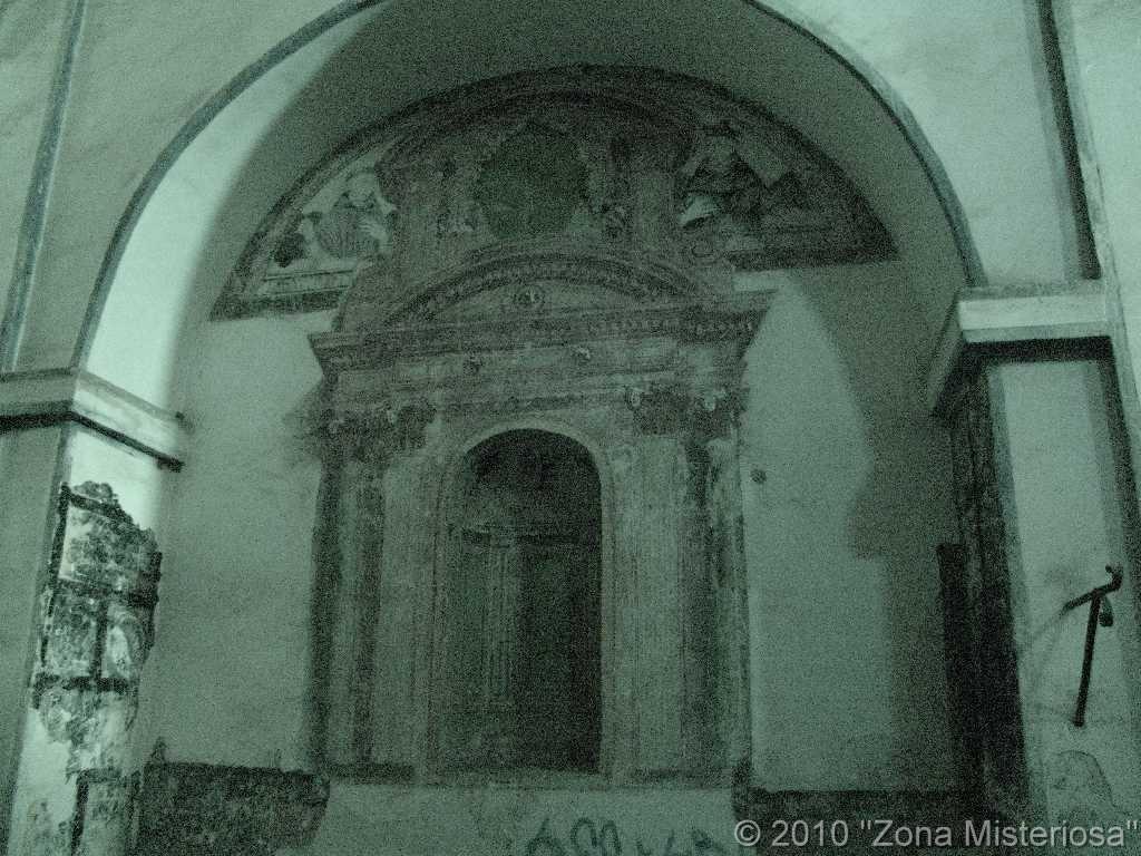 Solo se conservan las ruinas de los retablos