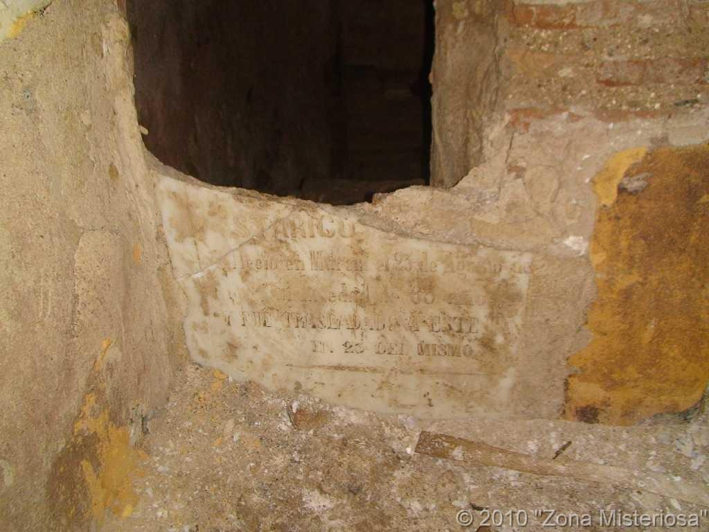 Inscripcion de la cripta